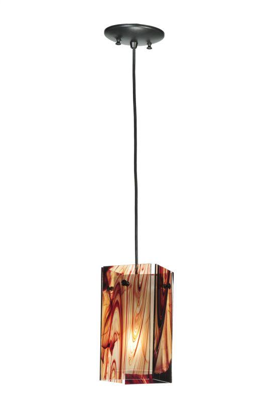 """Meyda Tiffany 111256 5"""" Square Quadrato Cabernet Swirl Mini Pendant"""