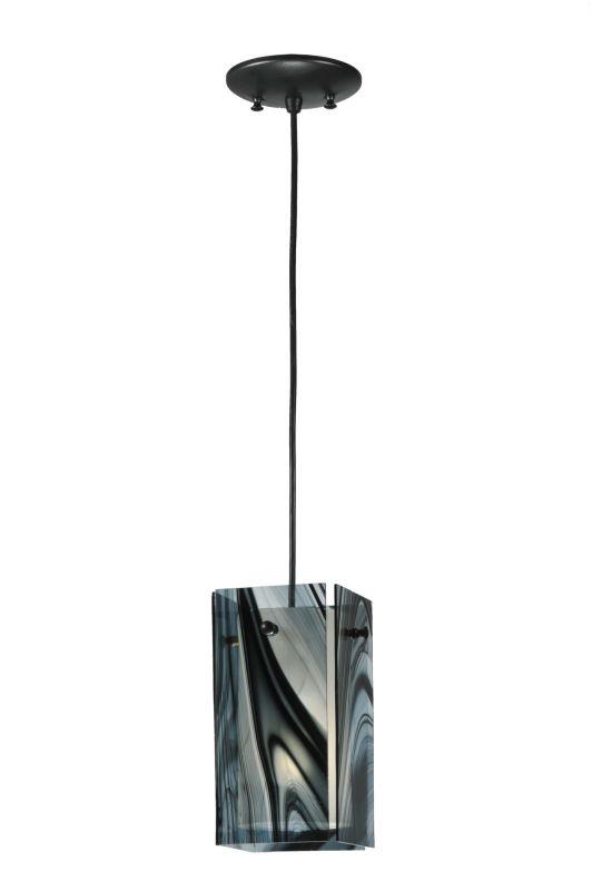 "Meyda Tiffany 111258 5"" Square Quadrato Noir Swirl Mini Pendant"
