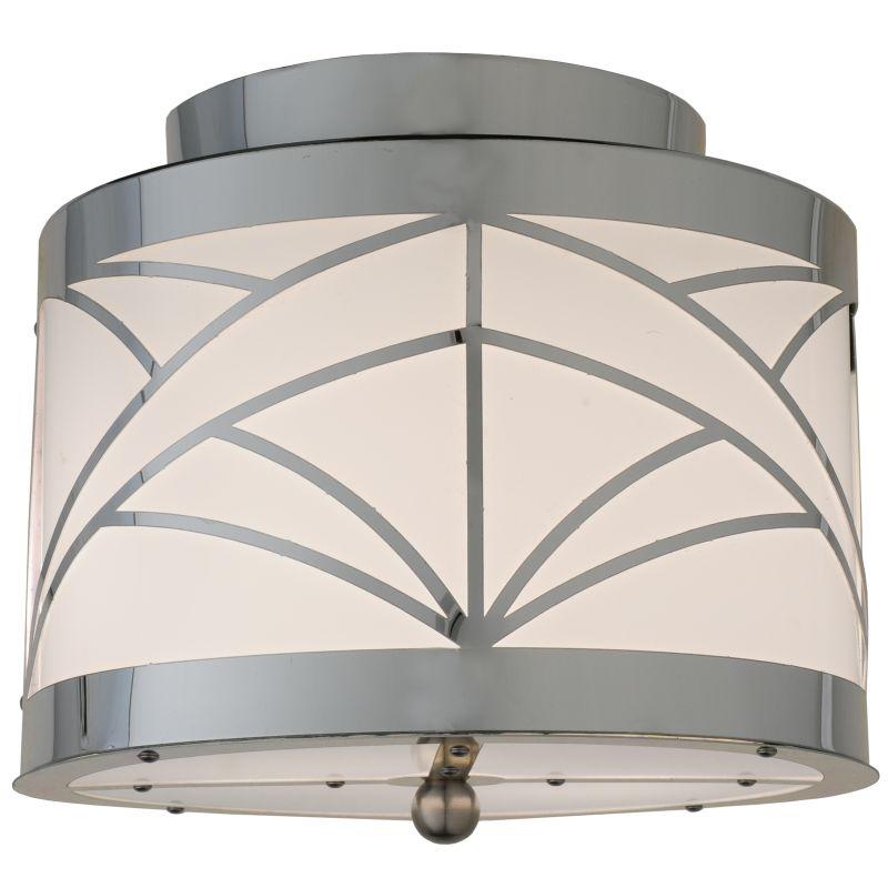 "Meyda Tiffany 111286 9"" W Cilindro Deco Flush Mount Ceiling Fixture"