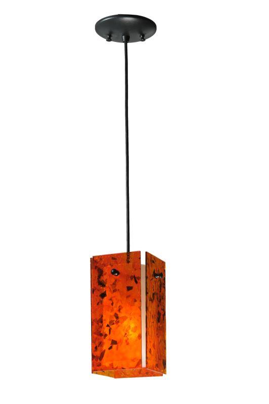 "Meyda Tiffany 111290 5"" Square Quadrato Magma Mini Pendant Magma"