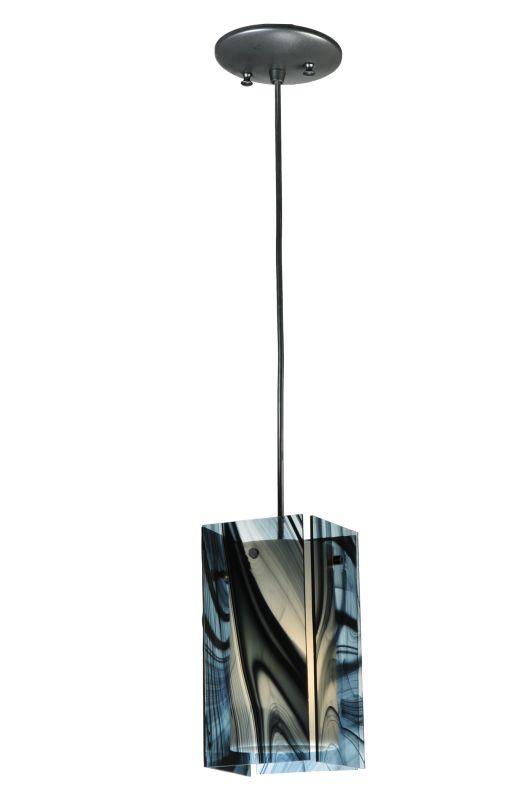 "Meyda Tiffany 111342 5"" Square Quadrato Noir Swirl Mini Pendant Noir"