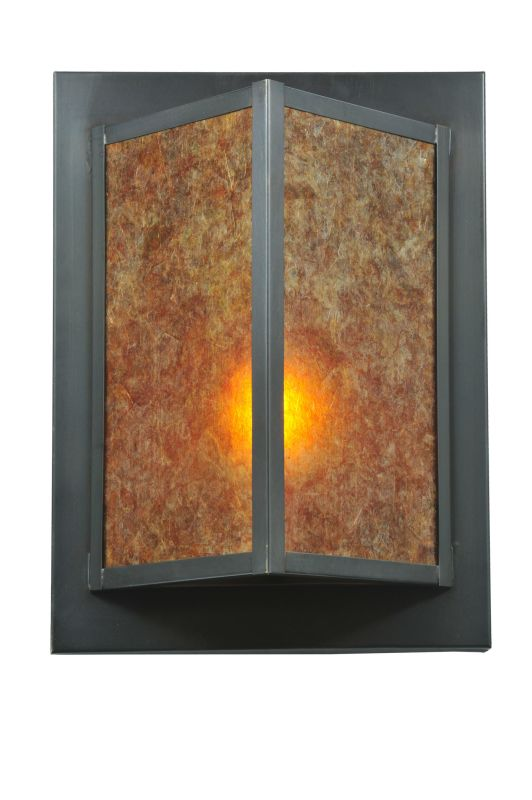 "Meyda Tiffany 111710 11"" W Wedge Wall Sconce Amber Mica Indoor"