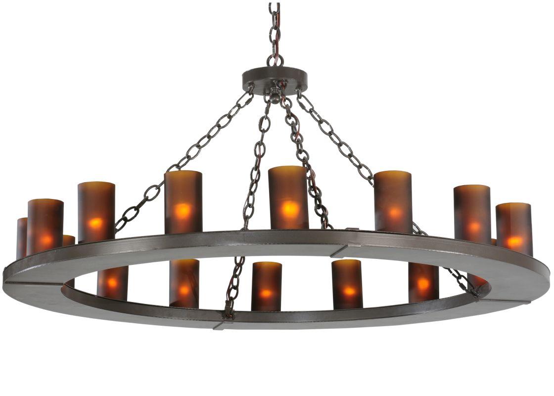 """Meyda Tiffany 112326 48"""" W Loxley 16 Light Chandelier Timeless Bronze"""