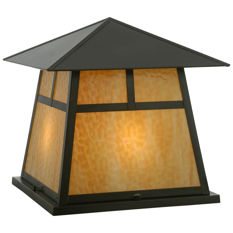 "Meyda Tiffany 112417 24"" Square Stillwater T Mission Pier Mount Beige Sale $3388.00 ITEM: bci2183272 ID#:112417 UPC: 705696059331 :"
