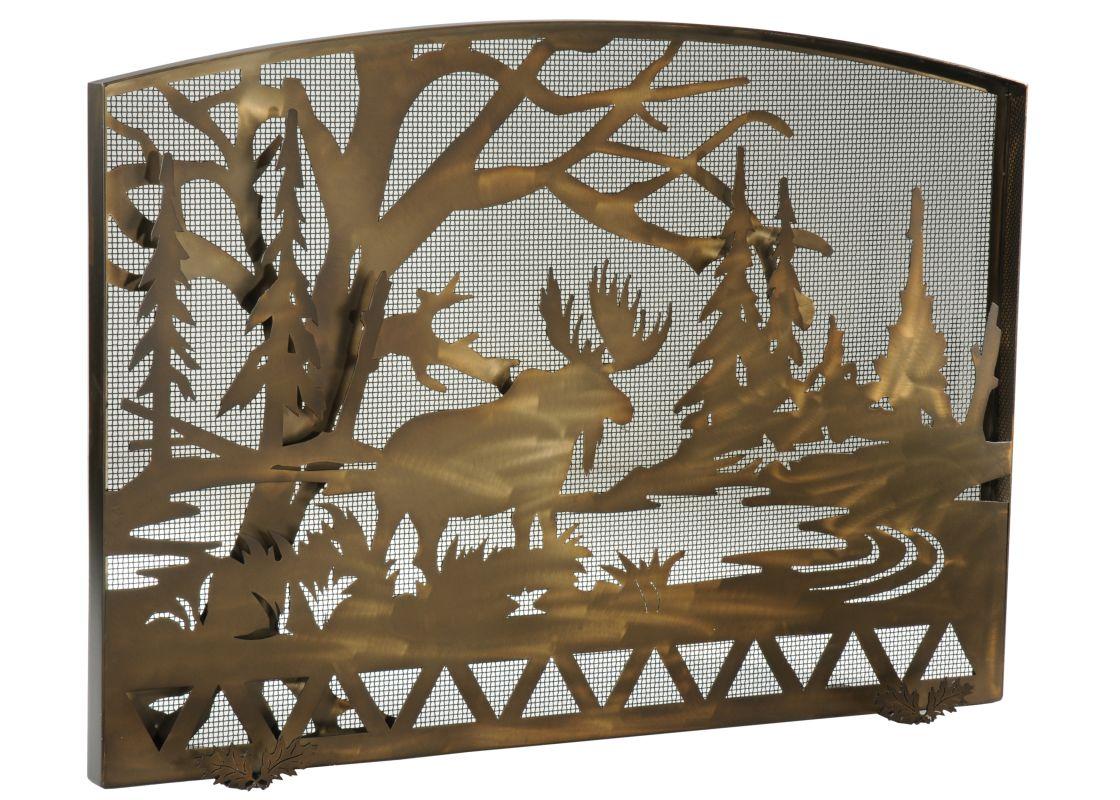 "Meyda Tiffany 113045 50"" W X 35.5"" H Moose Creek Arched Fireplace"