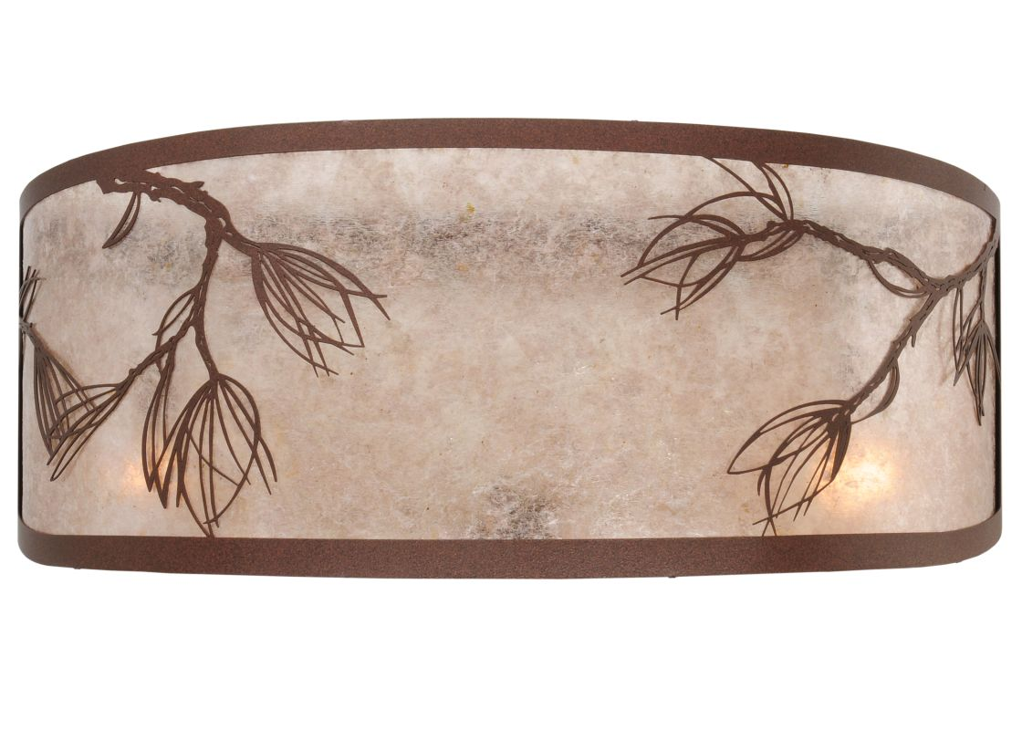 "Meyda Tiffany 113166 20"" W Lone Pine Replacement Shade Cafe Noir-Rust"
