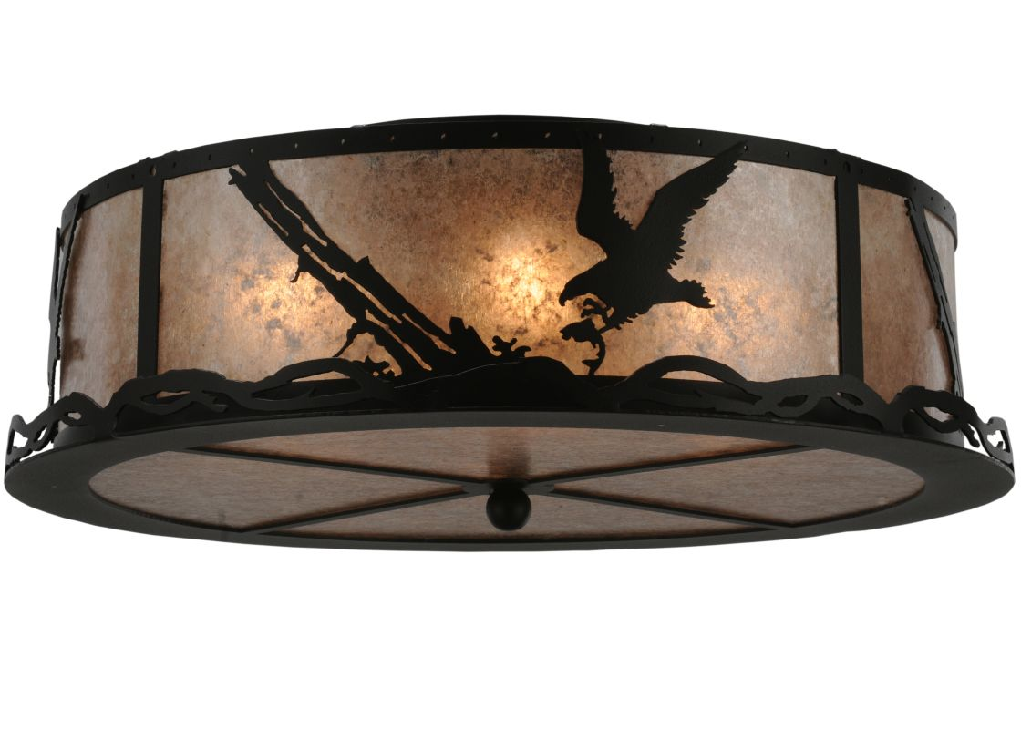 "Meyda Tiffany 113623 22"" W Strike Of The Eagle Flush Mount Ceiling"