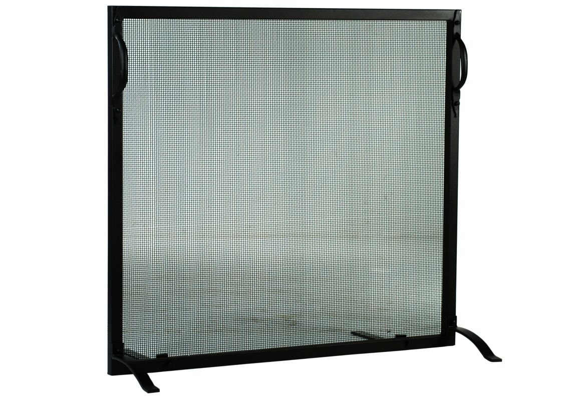 "Meyda Tiffany 113728 46.5"" W X 44.5"" H Simple Fireplace Screen Black"