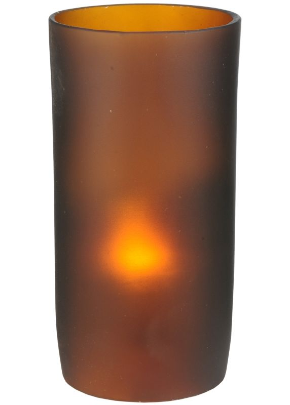 """Meyda Tiffany 114025 3"""" W X 6"""" H Cylinder Frosted Amber Replacement"""