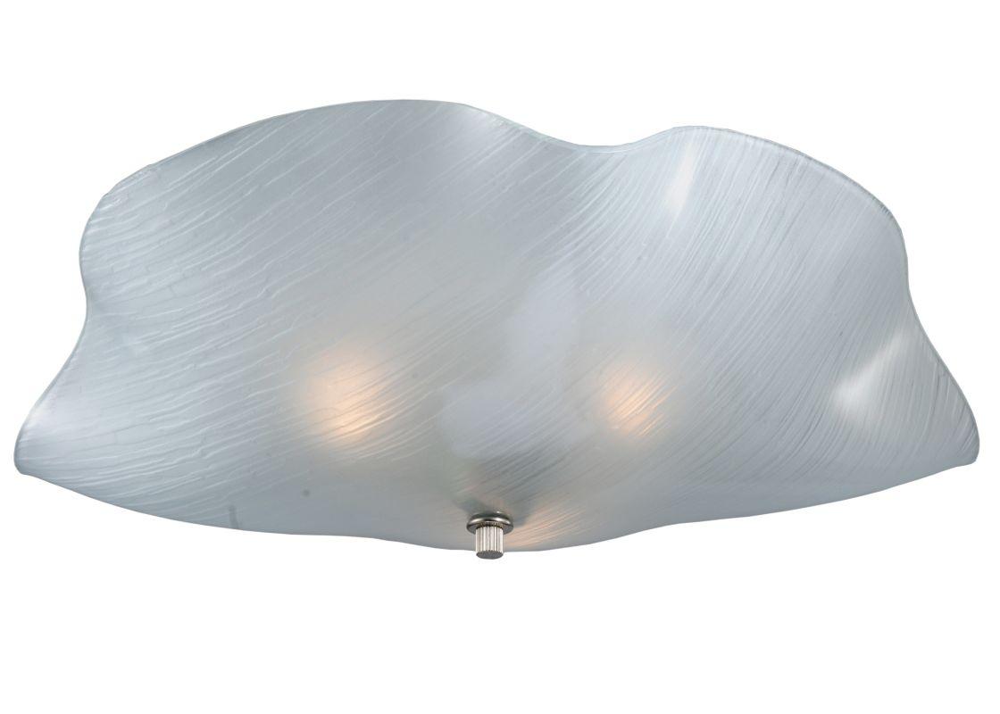 """Meyda Tiffany 114165 16"""" W Organic Art Glass Mist Flush Mount Ceiling"""