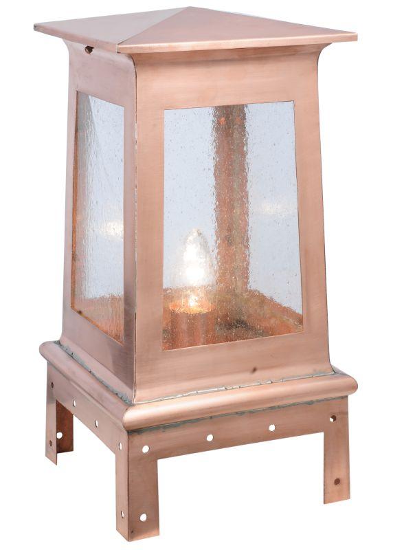 "Meyda Tiffany 114378 11"" W Stillwater Plain Post Mount Natural Copper"
