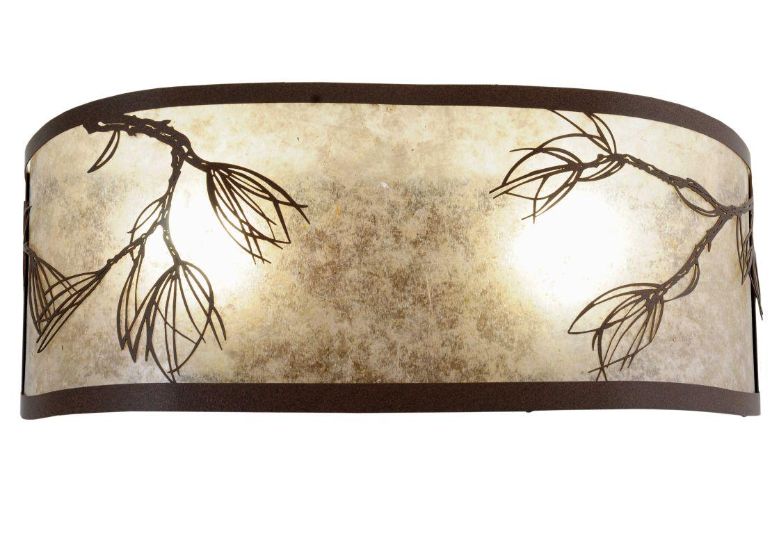 "Meyda Tiffany 115681 20"" W Lone Pine Wall Sconce Cafe Noir-Rust /"