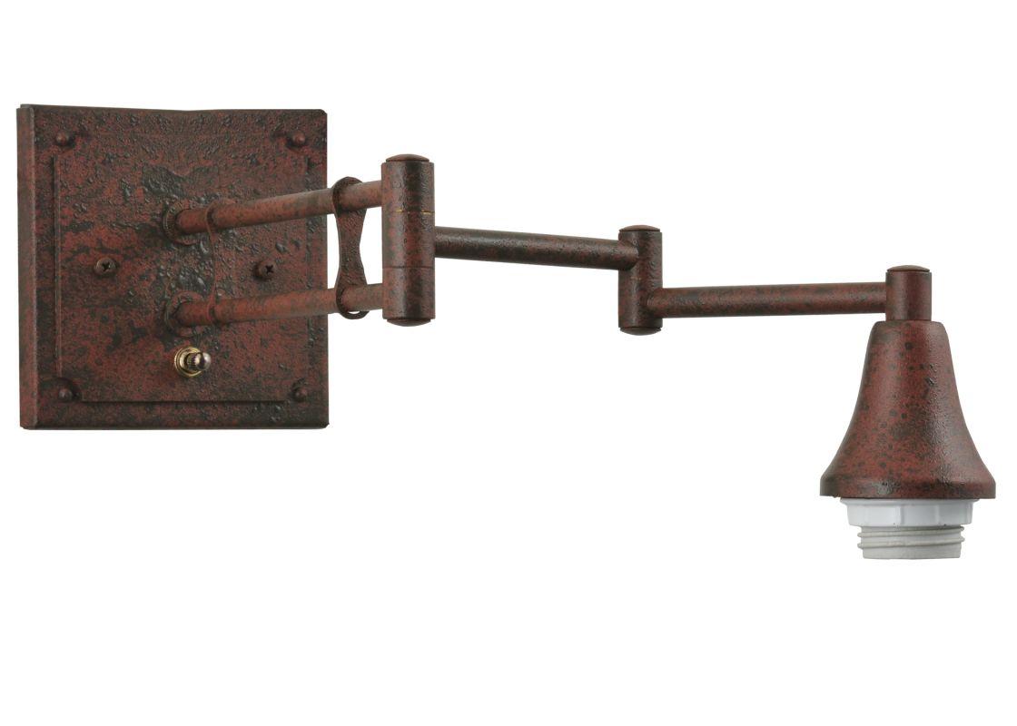 "Meyda Tiffany 115907 6"" Square Swing Arm Hardware Vintage Powdercoat"