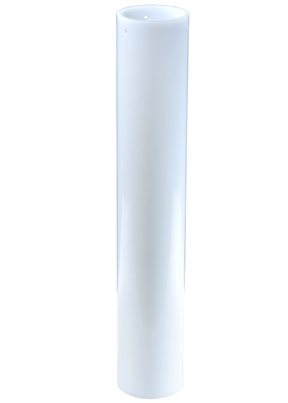 "Meyda Tiffany 116570 3"" W X 17"" H Cylinder White Replacement Shade"