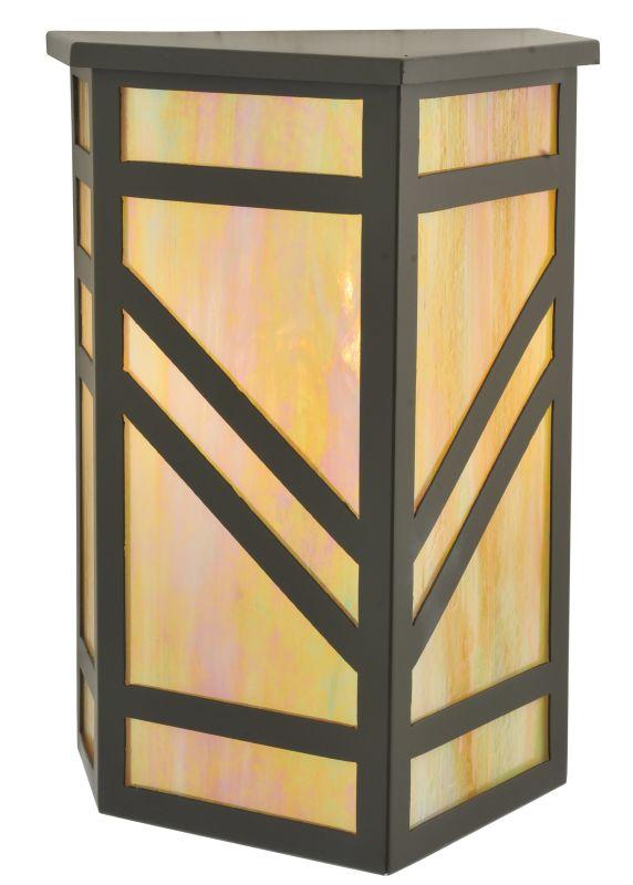 "Meyda Tiffany 117906 10.5"" W Santa Fe Wall Sconce Timeless Bronze"