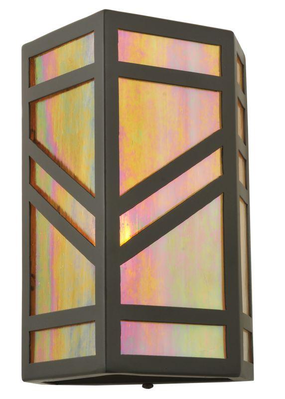 "Meyda Tiffany 117911 7"" W Santa Fe Wall Sconce Timeless Bronze Indoor"
