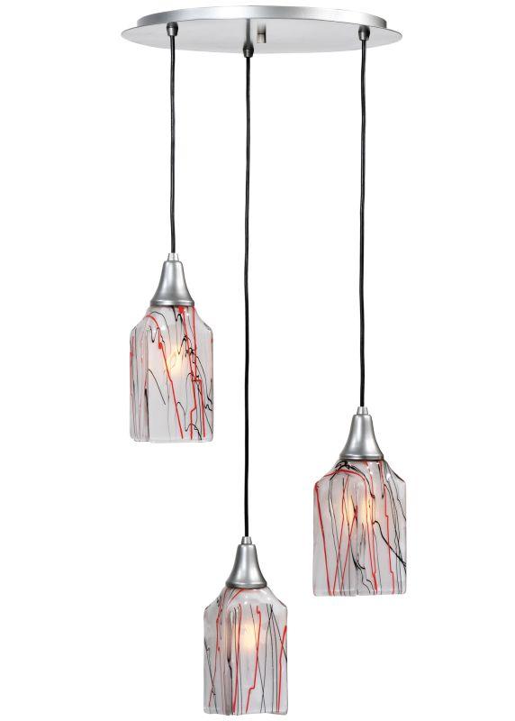 "Meyda Tiffany 117929 19"" W Licorice 3 Light Shower Flush Mount Ceiling"