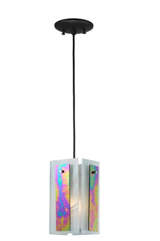 "Meyda Tiffany 118485 6.5"" Square Quadrato Aurora Borealis Mini Pendant"