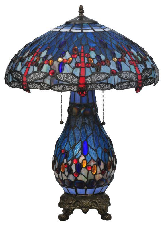 """Meyda Tiffany 118840 25.5"""" H Tiffany Hanginghead Dragonfly Lighted"""