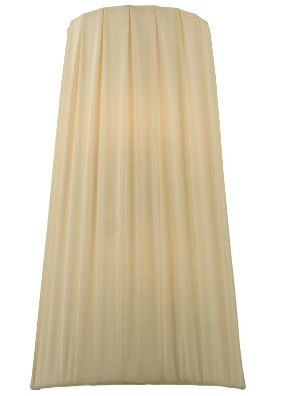"""Meyda Tiffany 119129 9"""" W Channell Tapered & Pleated Wall Sconce Cream"""