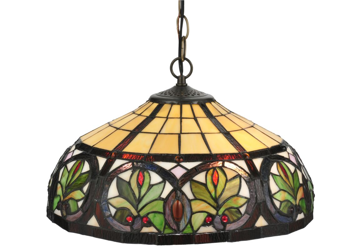 "Meyda Tiffany 119562 16"" W Sunrise Pendant Beige Indoor Lighting"