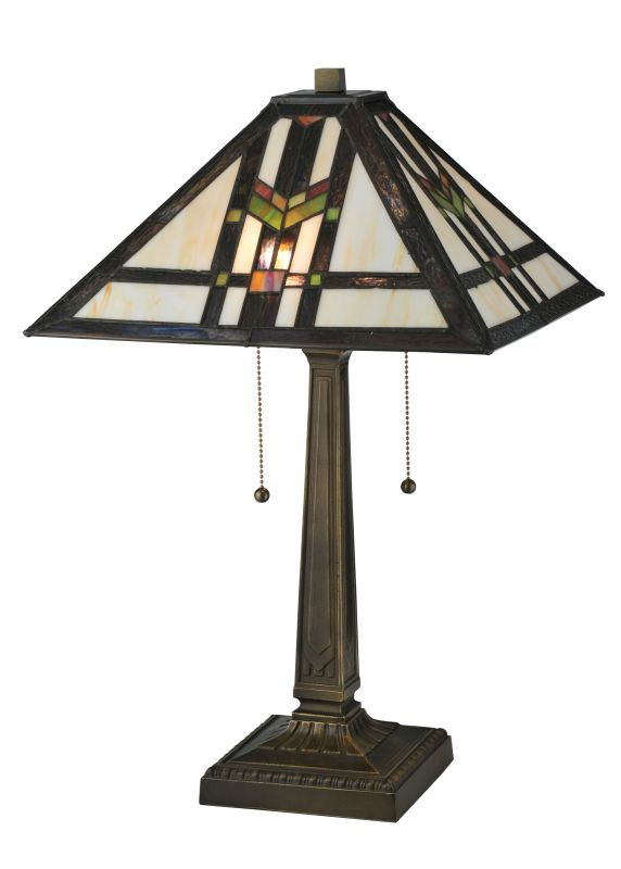 "Meyda Tiffany 119641 22"" H Prairie Wheat Table Lamp Beige Green Blue"