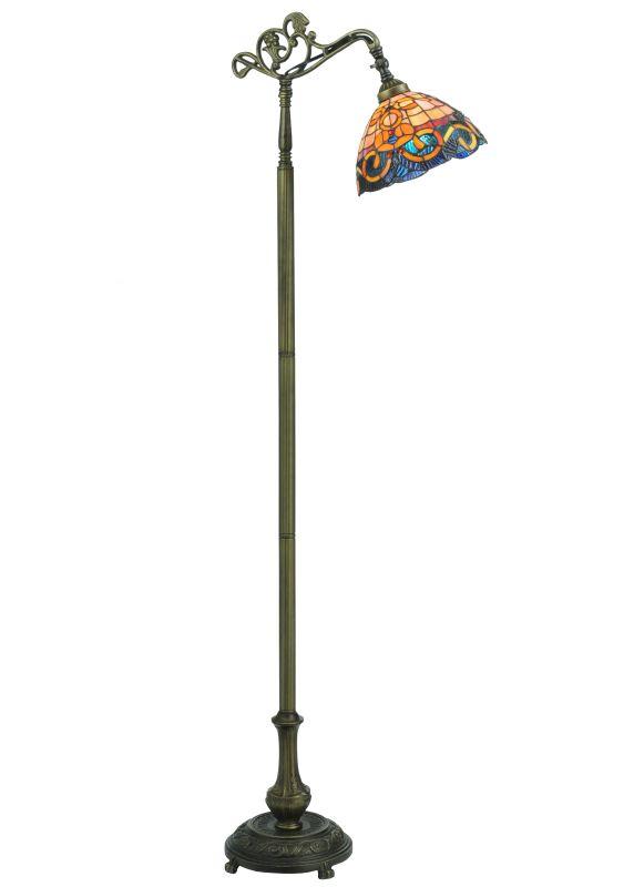 """Meyda Tiffany 120578 63"""" H Saturday Morning Bridge Arm Floor Lamp"""