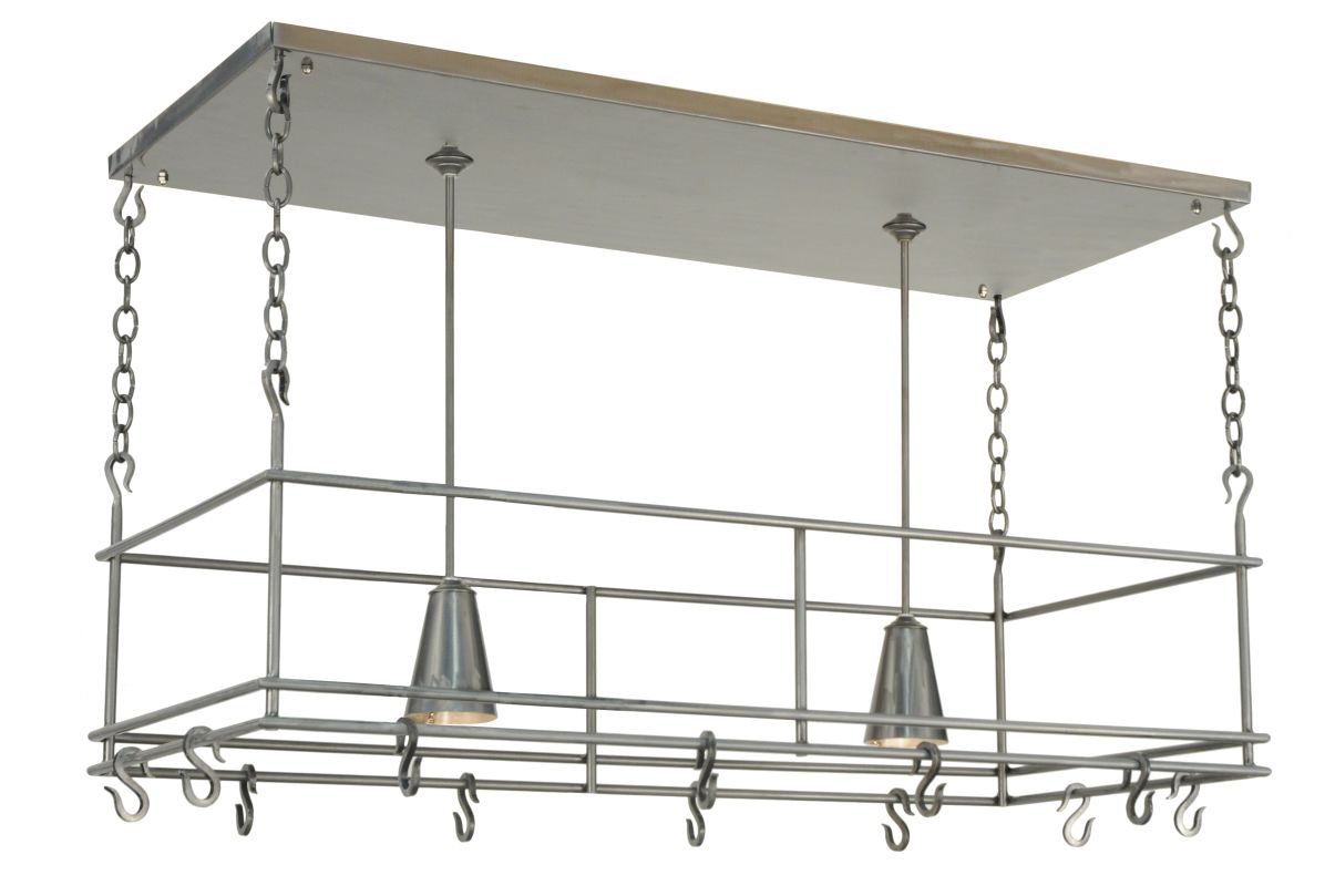 "Meyda Tiffany 121711 48"" L Spartan Pot Rack Steel Home Decor Pot Racks"