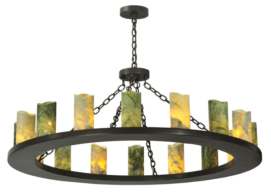 """Meyda Tiffany 121882 48"""" W Loxley Jadestone 16 Light Chandelier"""