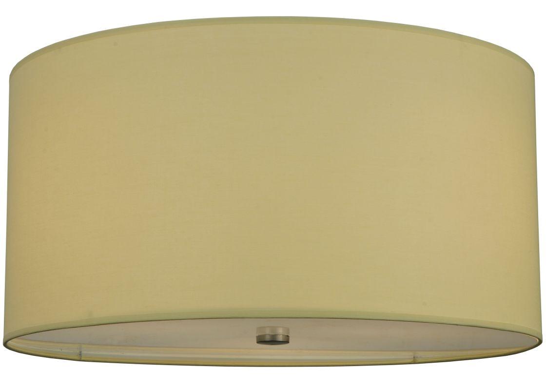 """Meyda Tiffany 126538 24"""" W Cilindro Beige Fabric Flush Mount Ceiling"""