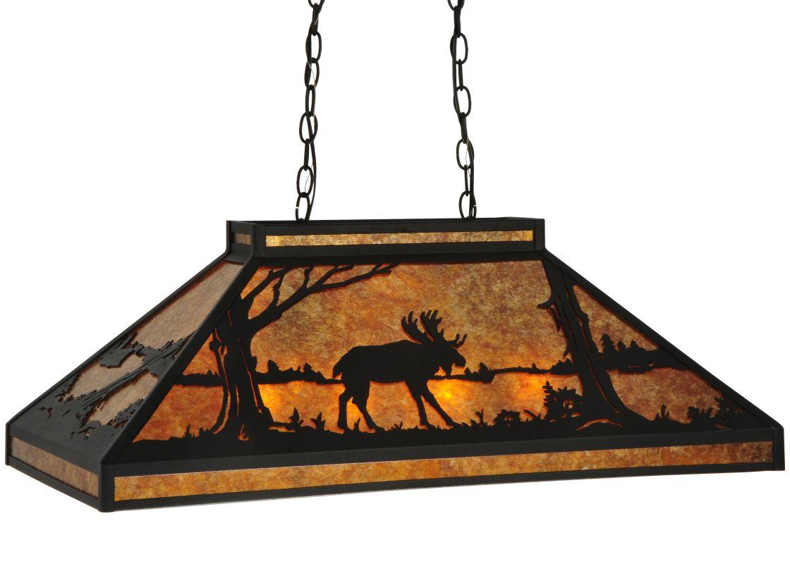 "Meyda Tiffany 128922 33"" L Moose At Lake Island / Billiard Fixture"