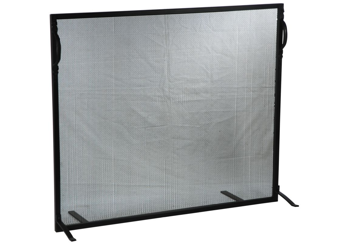 "Meyda Tiffany 130630 38"" W X 32"" H Simple Fireplace Screen Black"