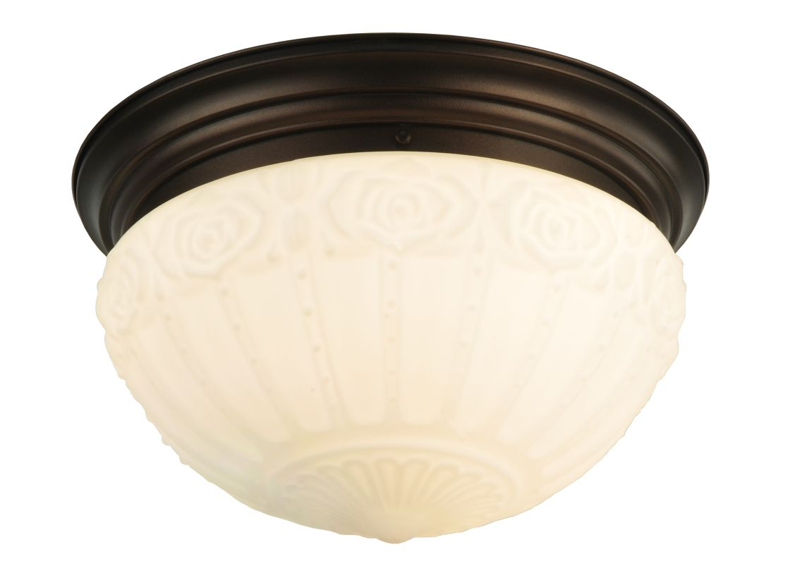 "Meyda Tiffany 130633 15.25"" W White Puffy Rose Flush Mount Ceiling"