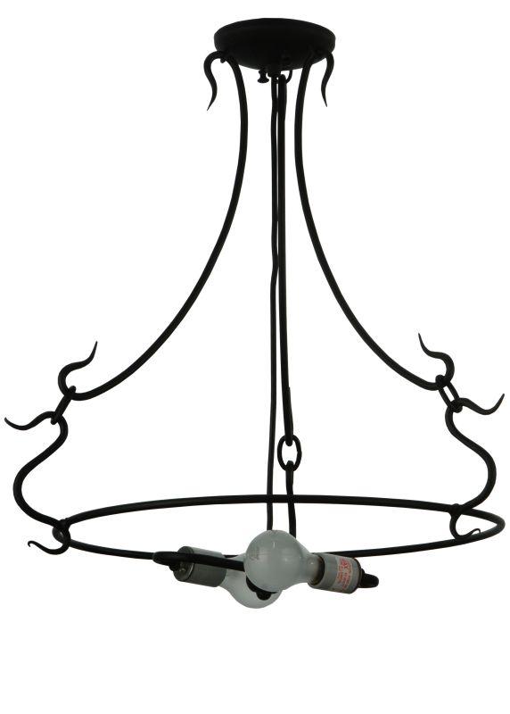 """Meyda Tiffany 131192 24"""" W 3 Arm Serpentine Ring Black Powdercoat"""