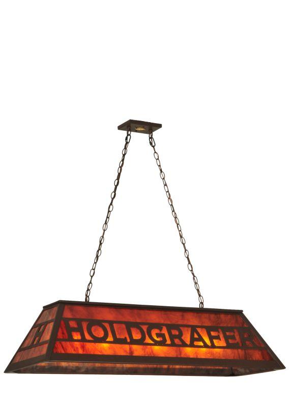 "Meyda Tiffany 132043 48"" L Personalized Holdgrafer Island / Billiard"
