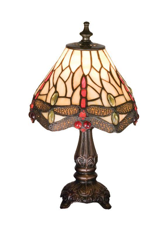 """Meyda Tiffany 17525 11.5"""" H Tiffany Hanginghead Dragonfly Mini Lamp"""