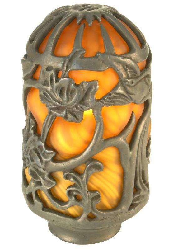 Meyda Tiffany 21258 Victorian Art Glass Gothic Floral Lantern Shade