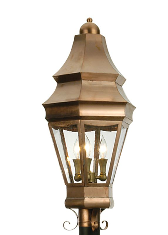 "Meyda Tiffany 21975 14"" W Statesboro Post Mount Raw Copper Outdoor"