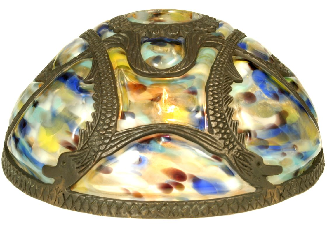"Meyda Tiffany 22082 9.5"" Victorian Art Glass Gothic Dome Shade White"