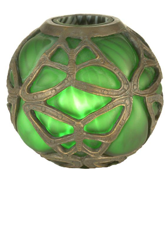 "Meyda Tiffany 22120 6"" H Castle Butterfly Orb Shade Green Accessory"