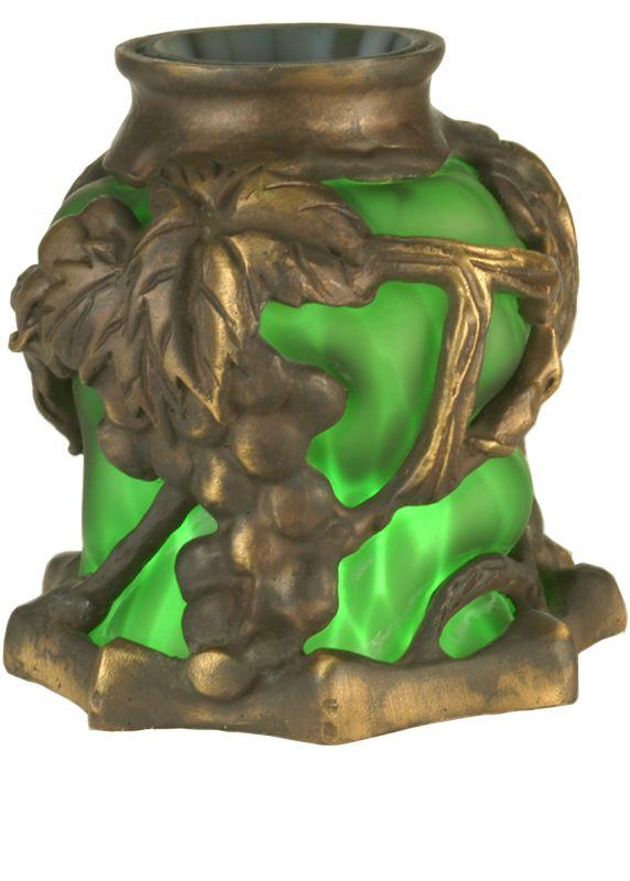 Meyda Tiffany 22128 Victorian Art Glass Gothic Grape Shade Green