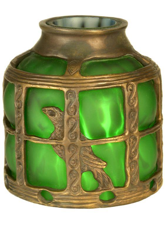 Meyda Tiffany 22140 Victorian Art Glass Gothic Bird Cage Shade Green