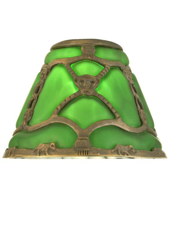 """Meyda Tiffany 22148 7"""" Victorian Art Glass Gothic Bantam Shade Green"""