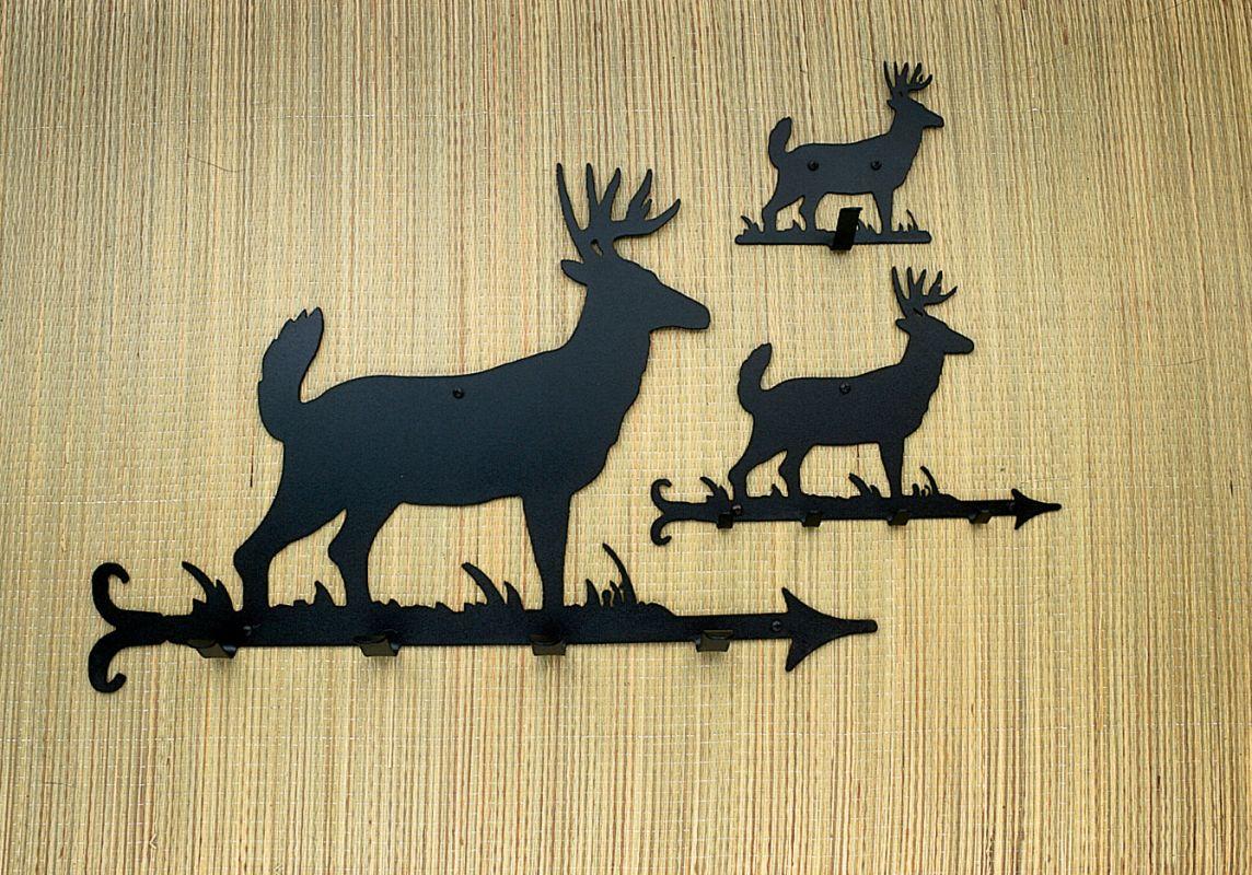 "Meyda Tiffany 22389 12"" W Lone Deer Key Holder Black Home Decor Coat &"