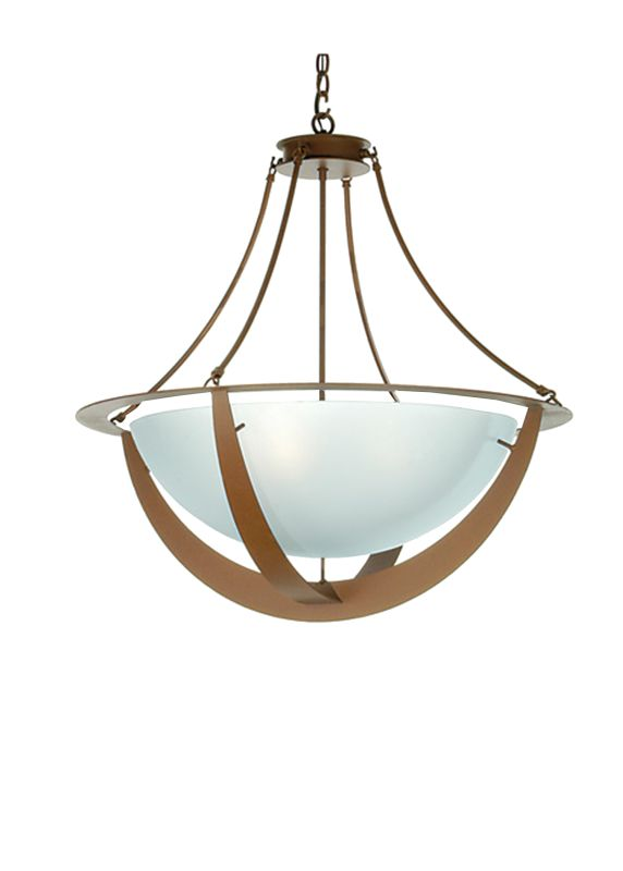 "Meyda Tiffany 31490 31"" W Saturn Inverted Pendant Rust Indoor Lighting"