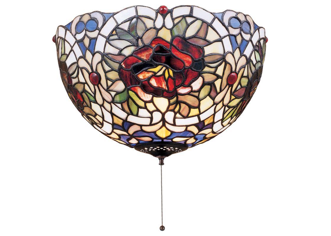 "Meyda Tiffany 38678 12"" W Renaissance Rose Flush Mount Ceiling Fixture"