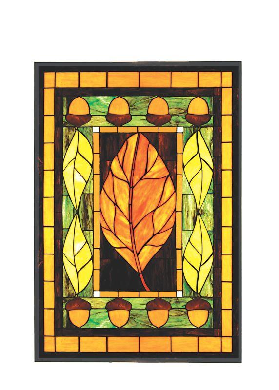 """Meyda Tiffany 50057 25.25"""" W X 36.5"""" H Harvest Festival Stained Glass"""