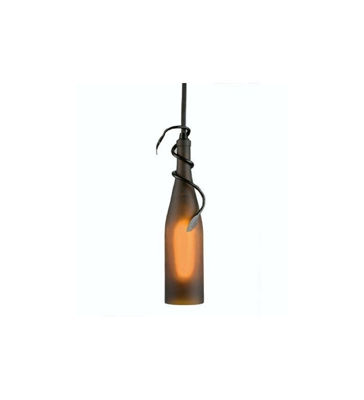 "Meyda Tiffany 50375 3""W Wine Bottle Mini Pendant Amber Indoor Lighting"
