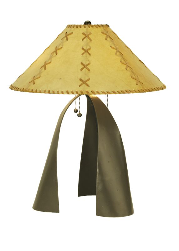 "Meyda Tiffany 50757 23"" H Sedona Faux Leather Shade Table Lamp"