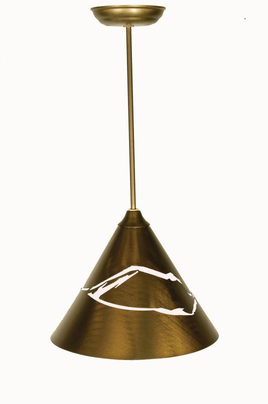 """Meyda Tiffany 50919 12"""" W Cone Mountain View Pendant Antique Copper"""